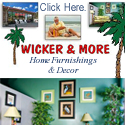 Wicker and More Home Furnishings and Decor - Banner Ad - linking to website
